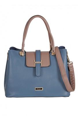 En-ji Keiko Handbag - Blue