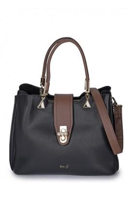En-ji Hinori Handbag - Black