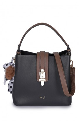 En-ji Shelby Handbag - Black