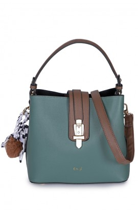 En-ji Shelby Handbag - Green