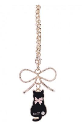 En-Ji Kitty Bag Charm - Gold